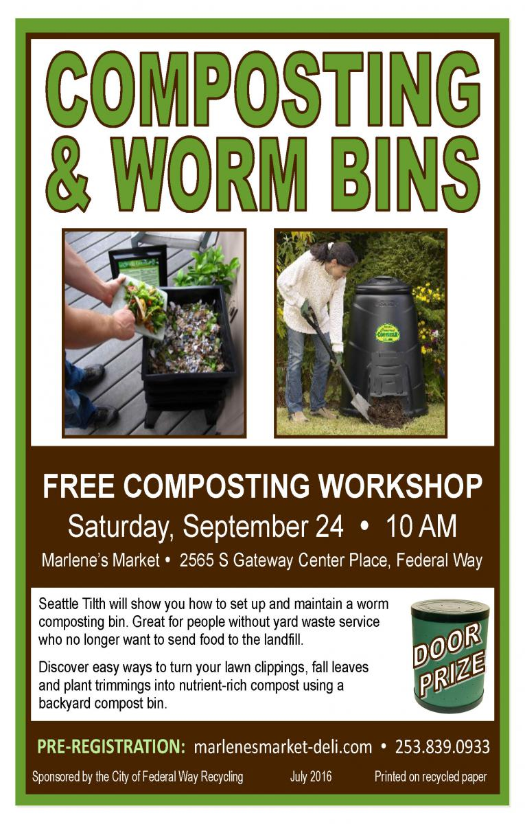 free composting u0026 worm bin class city of federal way